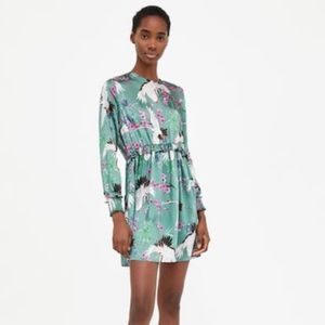 NWT Zara Bird Print Dress. Size S